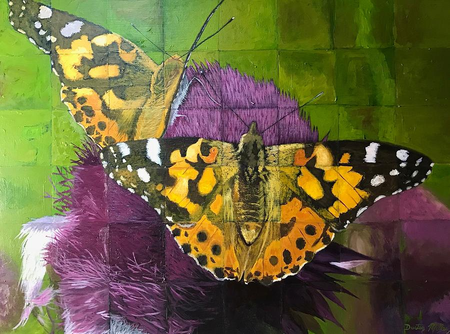 Painting Painting - Painted Lady Butterflies by Dustin Miller