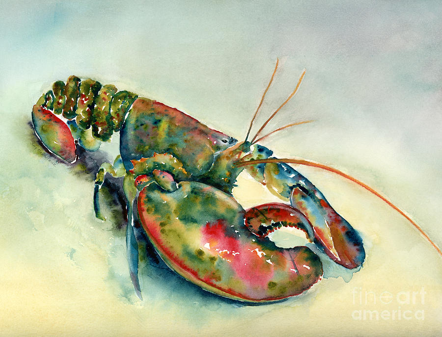 Lobster Painting - Painted Lobster by Amy Kirkpatrick