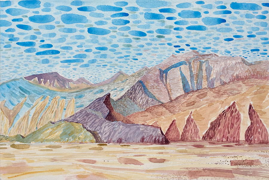 Painted Painting - Painted Mountain II by Vaughan Davies