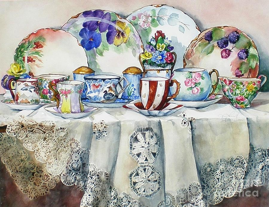 China Painting - Painted Painted China by Jane Loveall