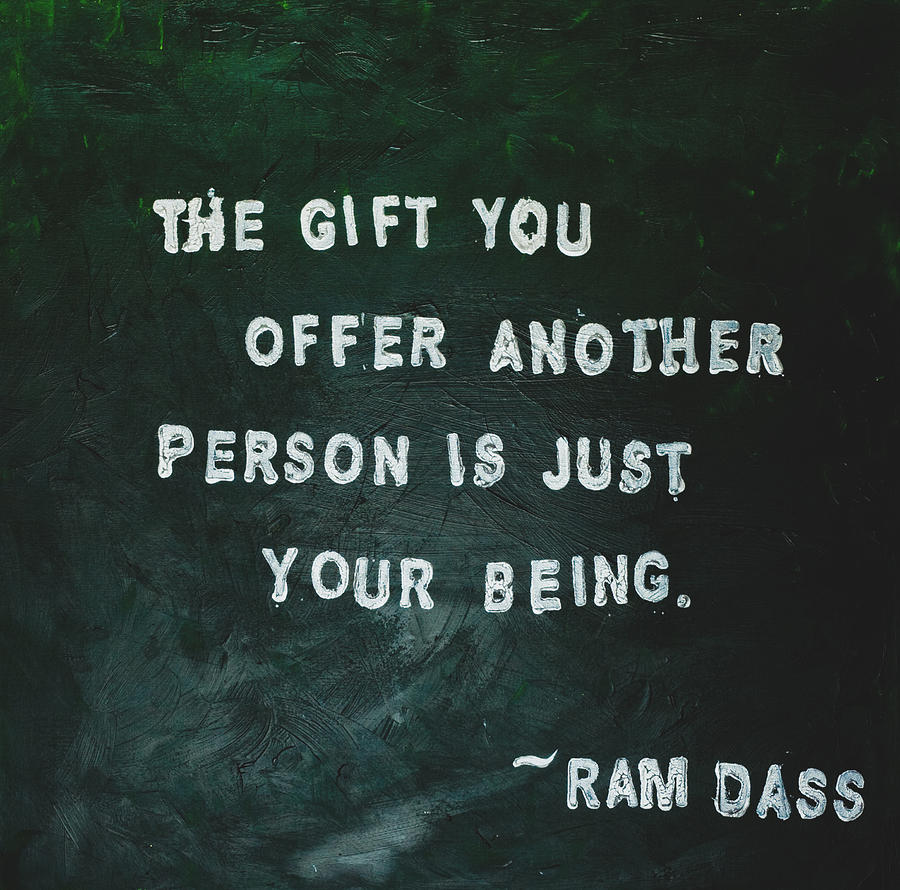 Quotes Painting - Painted Quote - Ram Dass by Melissa Moore