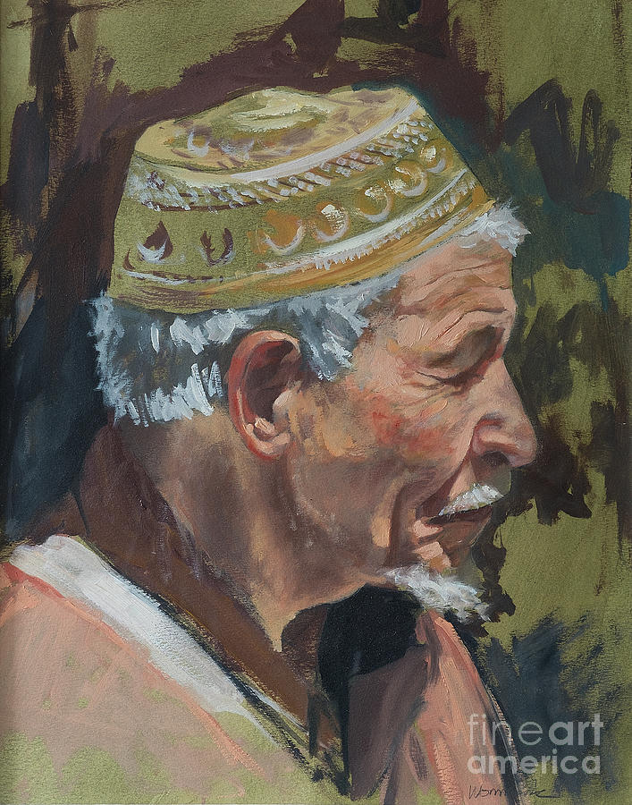 Morocco Painting - Painted Sketch by Jonathan Wommack