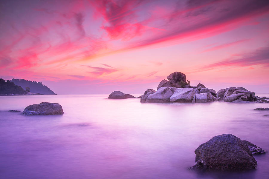 Evening Sunset Photograph - Painted Sky by Paul Chong