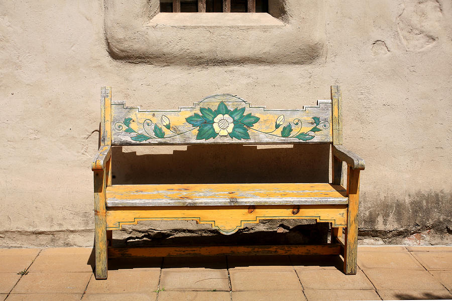 Incredible Painted Sunflower Bench Pabps2019 Chair Design Images Pabps2019Com