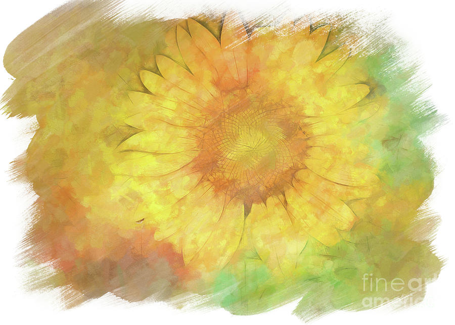 Painted Sunflower by Eleanor Abramson