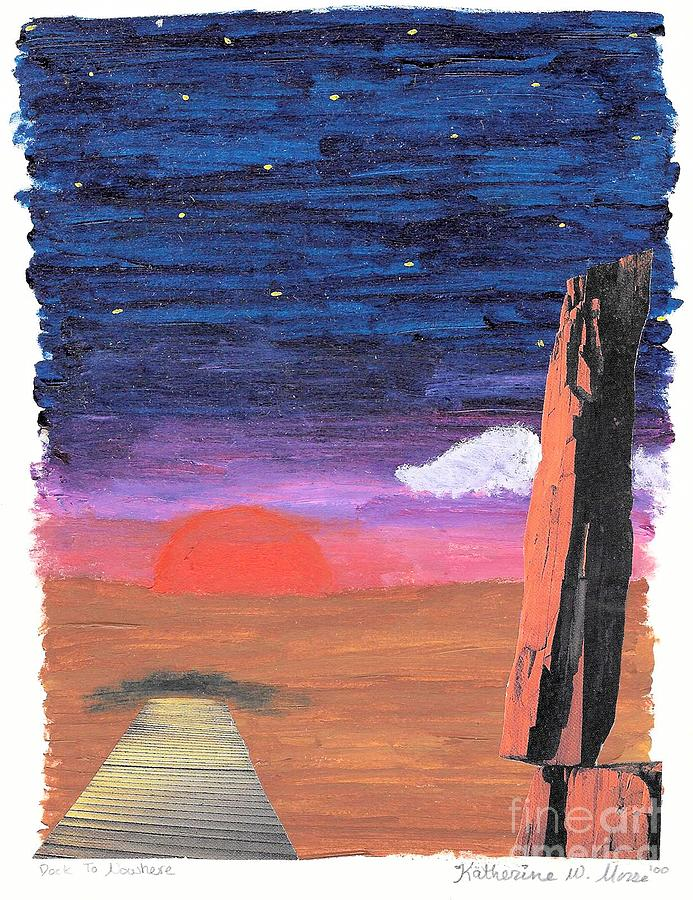 Painted Sunset Mixed Media