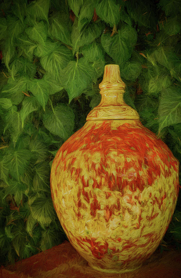 Painted Vase by Dave Bosse