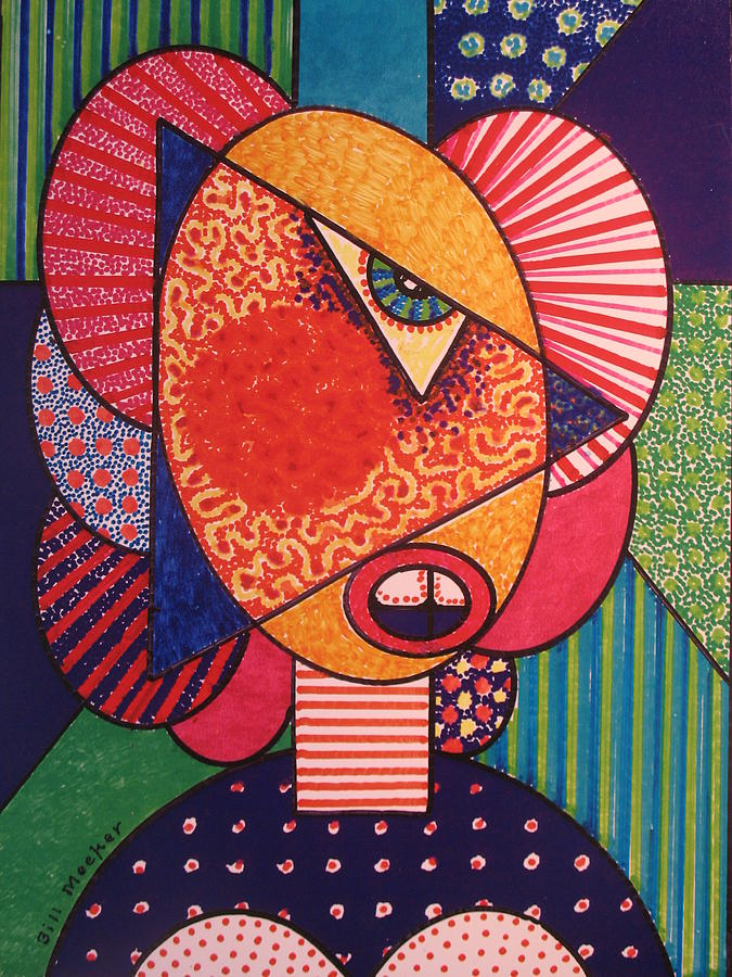 Modern Painting - Painted Woman by Bill Meeker
