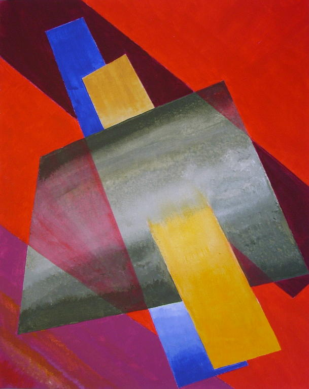 Architecture Painting - Painterly Architectonique First Construction by Bernhard Mueller