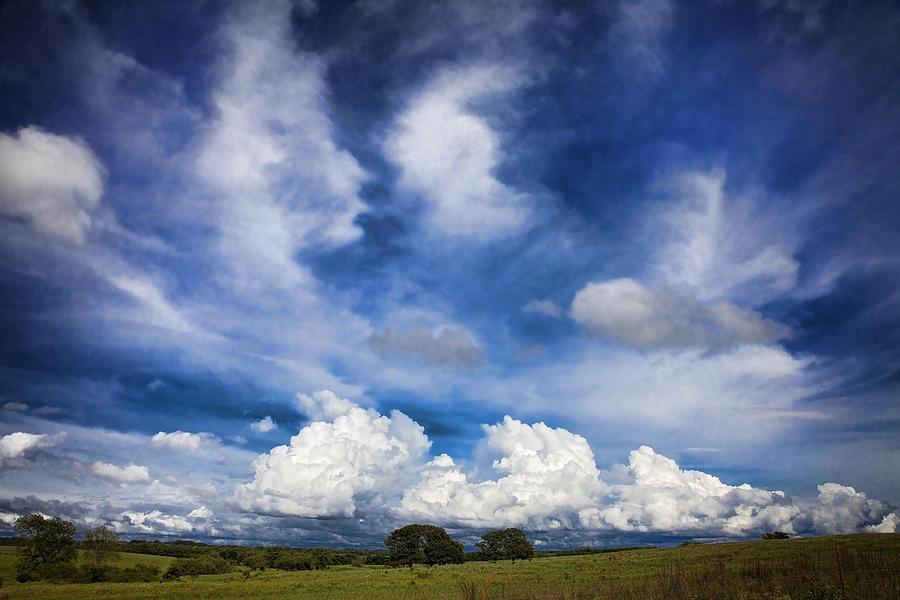 Landscape Photograph - Painterly Sky over Oklahoma by Toni Hopper