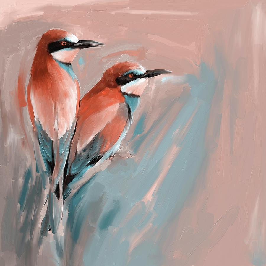 Bird Painting - Painting 662 2 Bird 9 by Mawra Tahreem