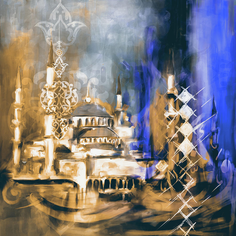 Abstract Painting - Painting 756 2 Sultan Ahmet Mosque by Mawra Tahreem