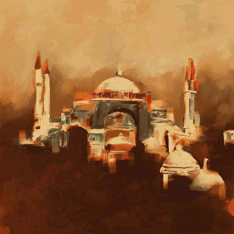 Hagia Sophia Painting - Painting 768 4 Hagia Sophia by Mawra Tahreem