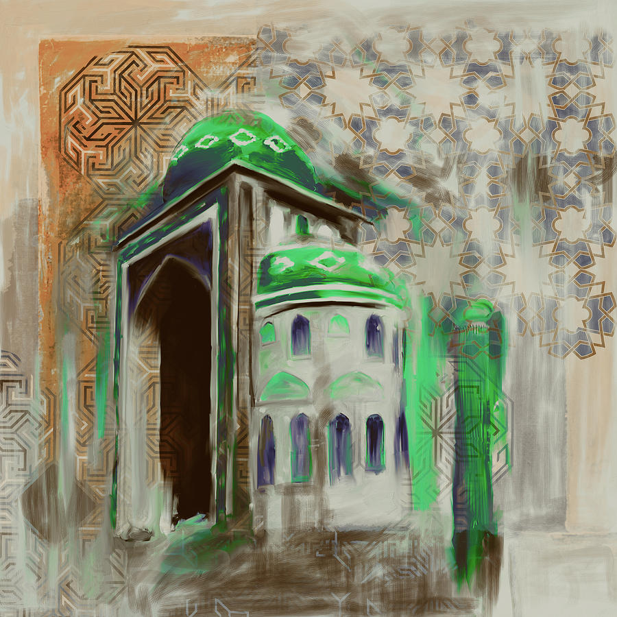 Istanbul Painting - Painting 774 4 Jalil Khayat Mosque by Mawra Tahreem