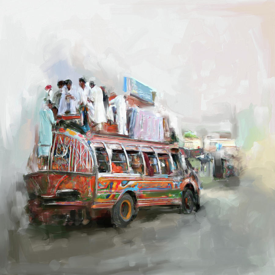 Truck Painting - Painting 782 1 Kpk by Mawra Tahreem