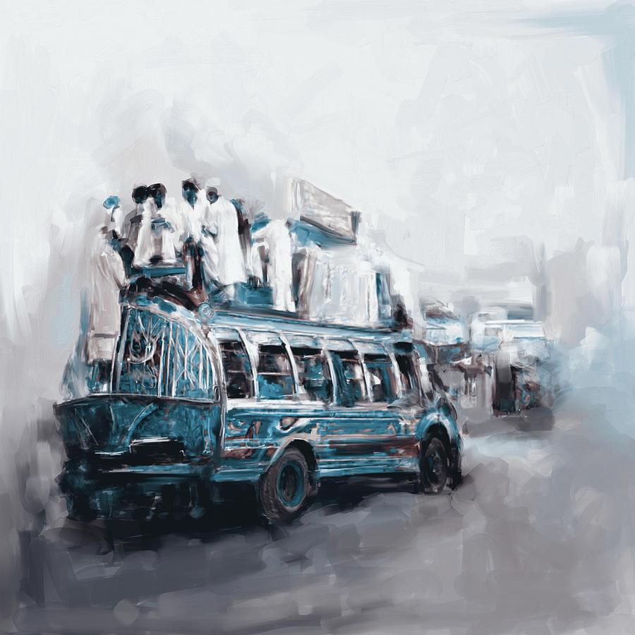Truck Painting - Painting 782 3 Kpk by Mawra Tahreem