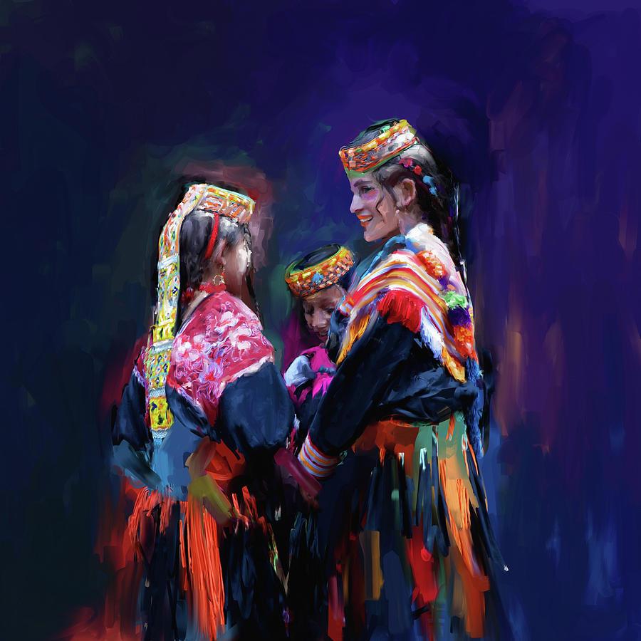 Kailash Painting - Painting 784 1 Kailash Women by Mawra Tahreem
