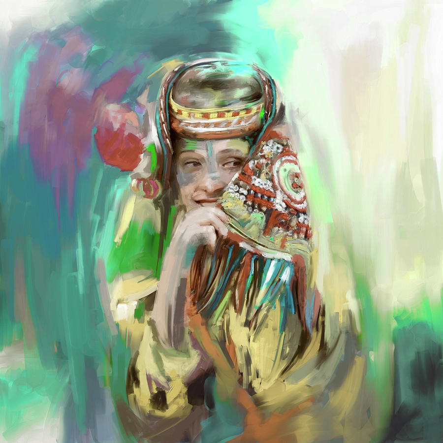 Woman Painting - Painting 786 4 Kailash Girl by Mawra Tahreem