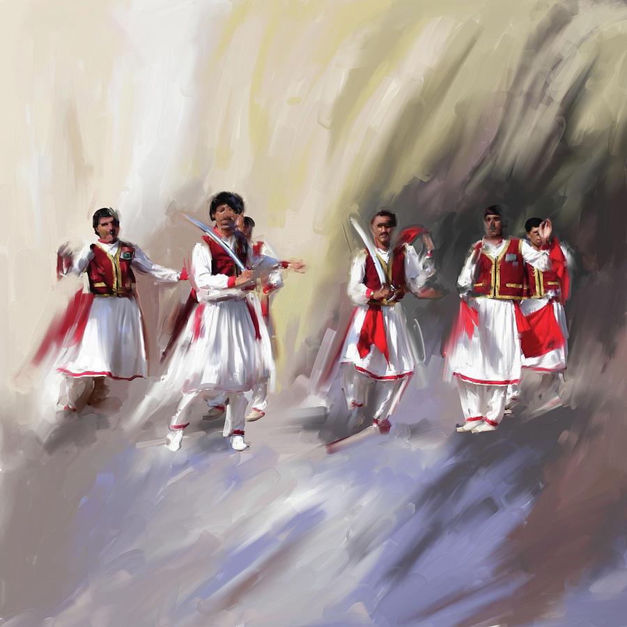 Khattak Painting - Painting 789 1 Khatak II by Mawra Tahreem