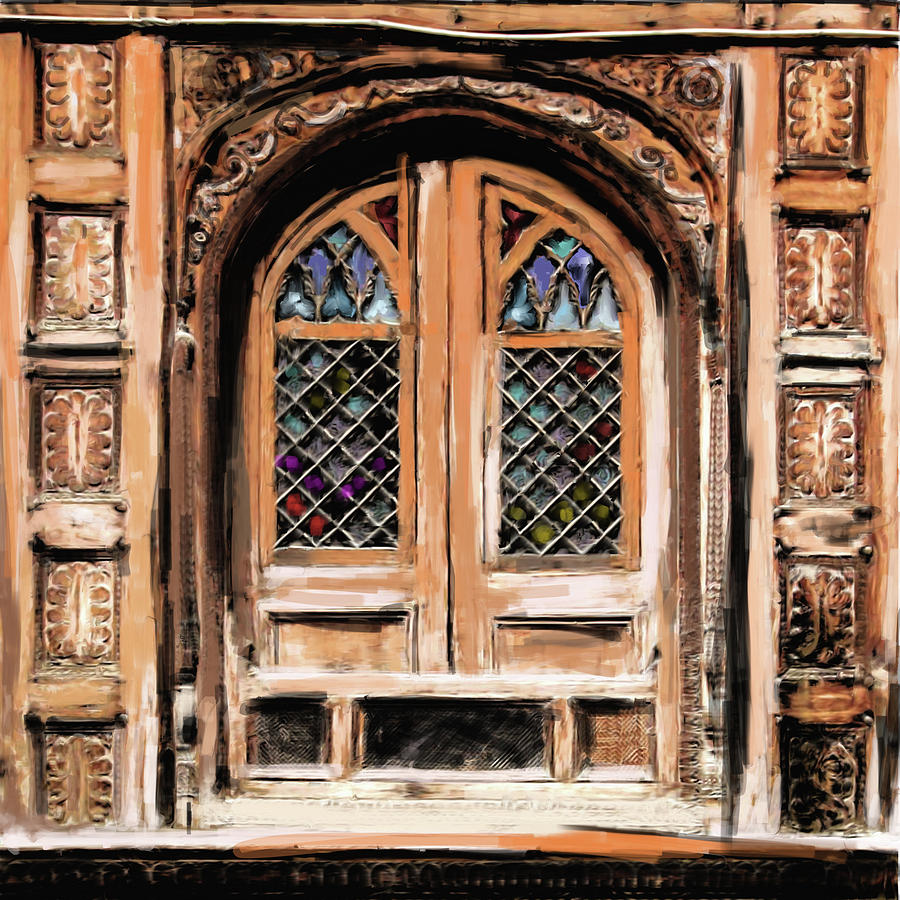 Wooden Painting - Painting 793 1 Wooden Architecture by Mawra Tahreem
