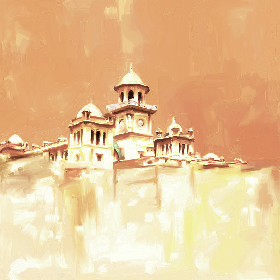 College Painting - Painting 795 2 Islamia College Peshawar by Mawra Tahreem
