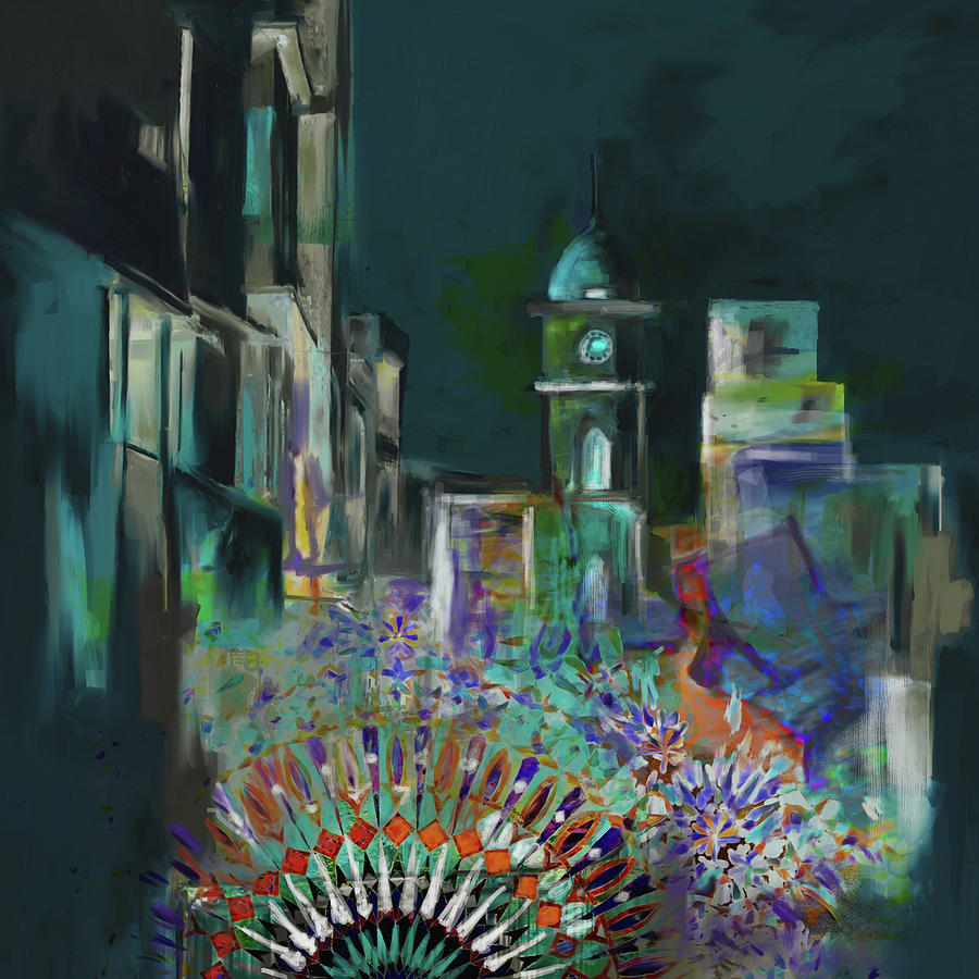 Cunningham Painting - Painting 796 1 Cunningham Clock Tower by Mawra Tahreem