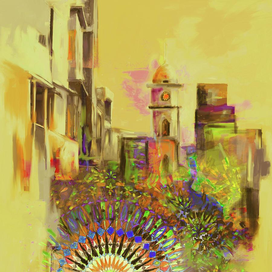 Painting 796 3 Cunningham Clock Tower by Mawra Tahreem