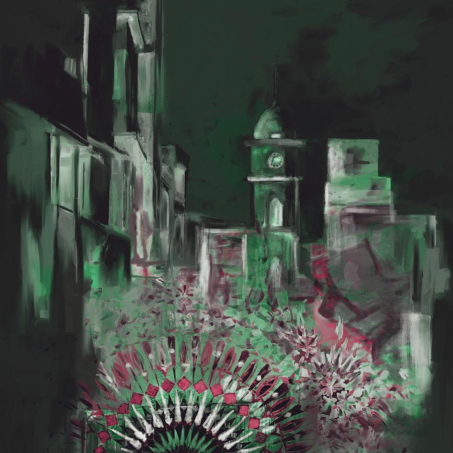 Painting 796 5 Cunningham Clock Tower by Mawra Tahreem