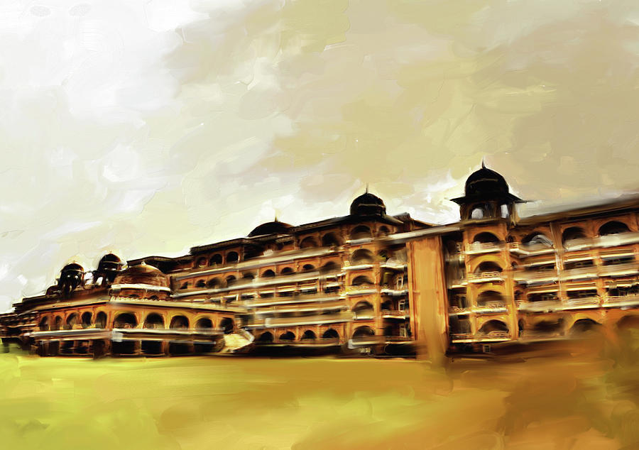 University Painting - Painting 797 1 Peshawar University by Mawra Tahreem