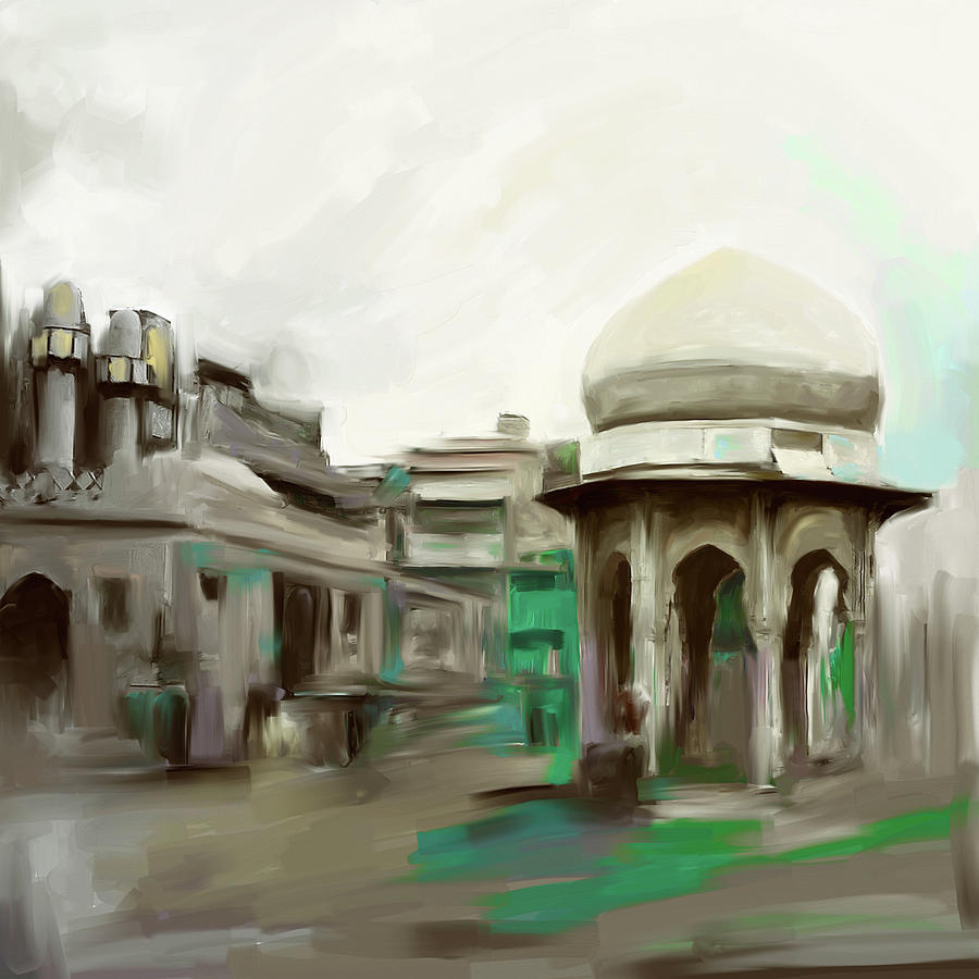 Painting 798 2 Chowk Yaadgar by Mawra Tahreem