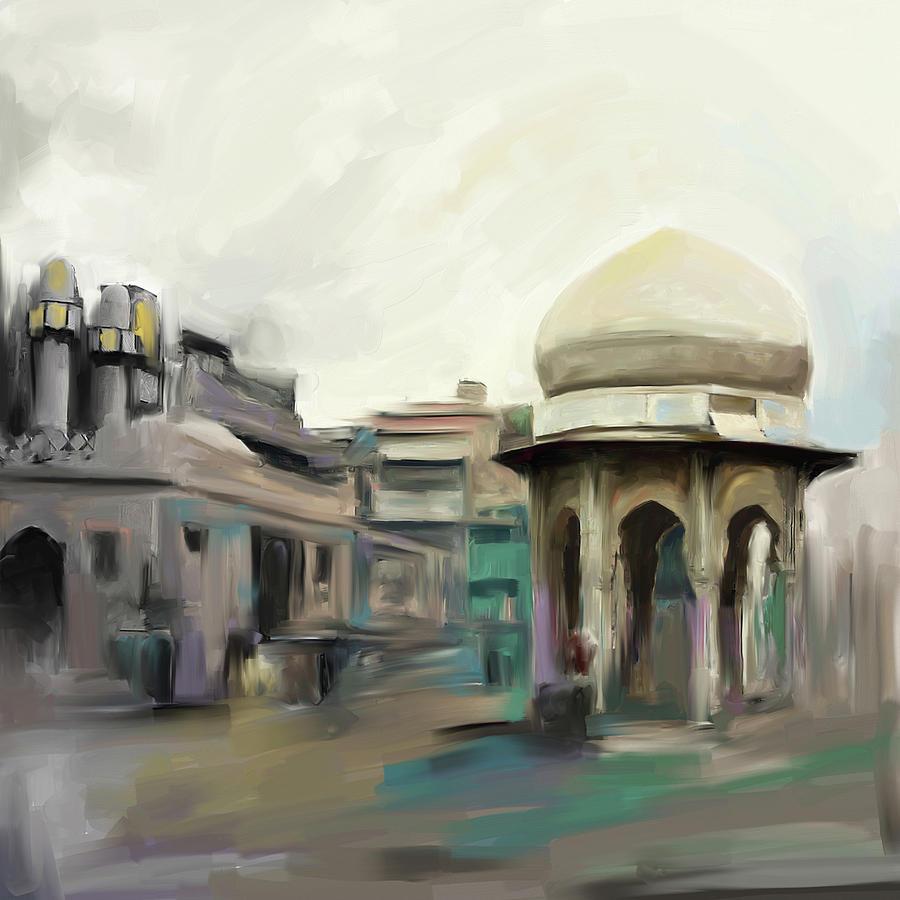 Painting 798 1 Chowk Yadgaar by Mawra Tahreem