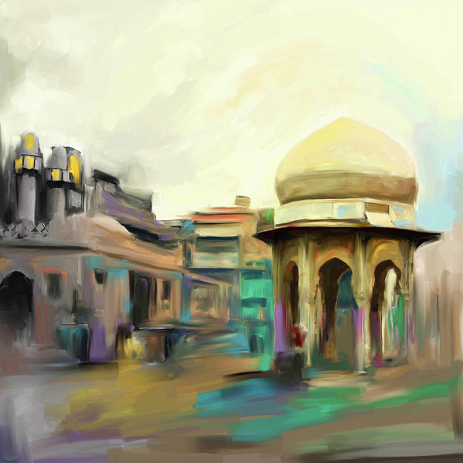 Peshawar Painting - Painting 798 3 Chowk Yaadgar by Mawra Tahreem