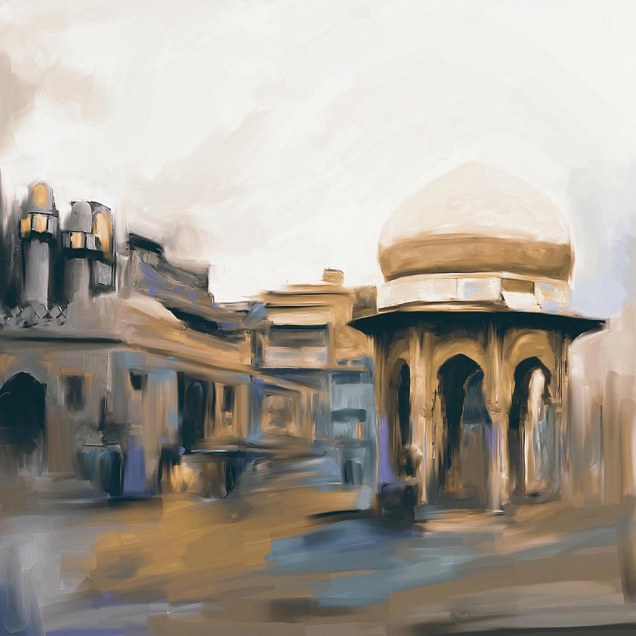 Painting 798 4 Chowk Yadgaar by Mawra Tahreem