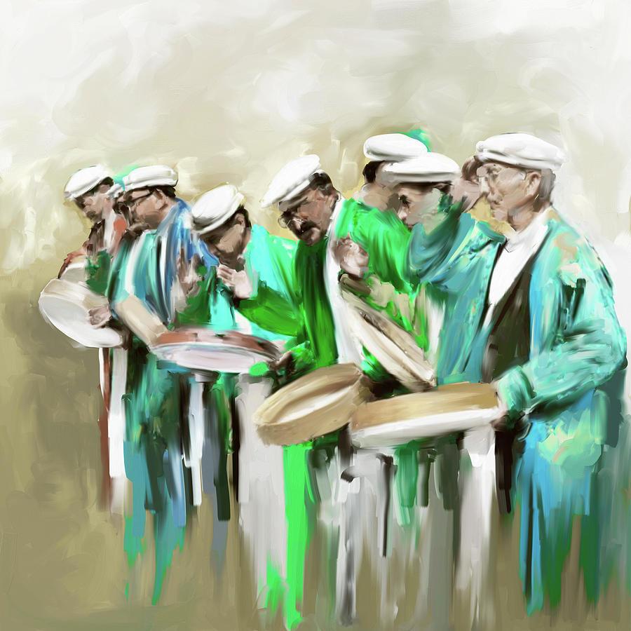 Painting 800 2 Hunzai Musicians by Mawra Tahreem