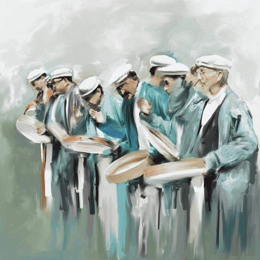 Painting 800 3 Hunzai Musicians by Mawra Tahreem