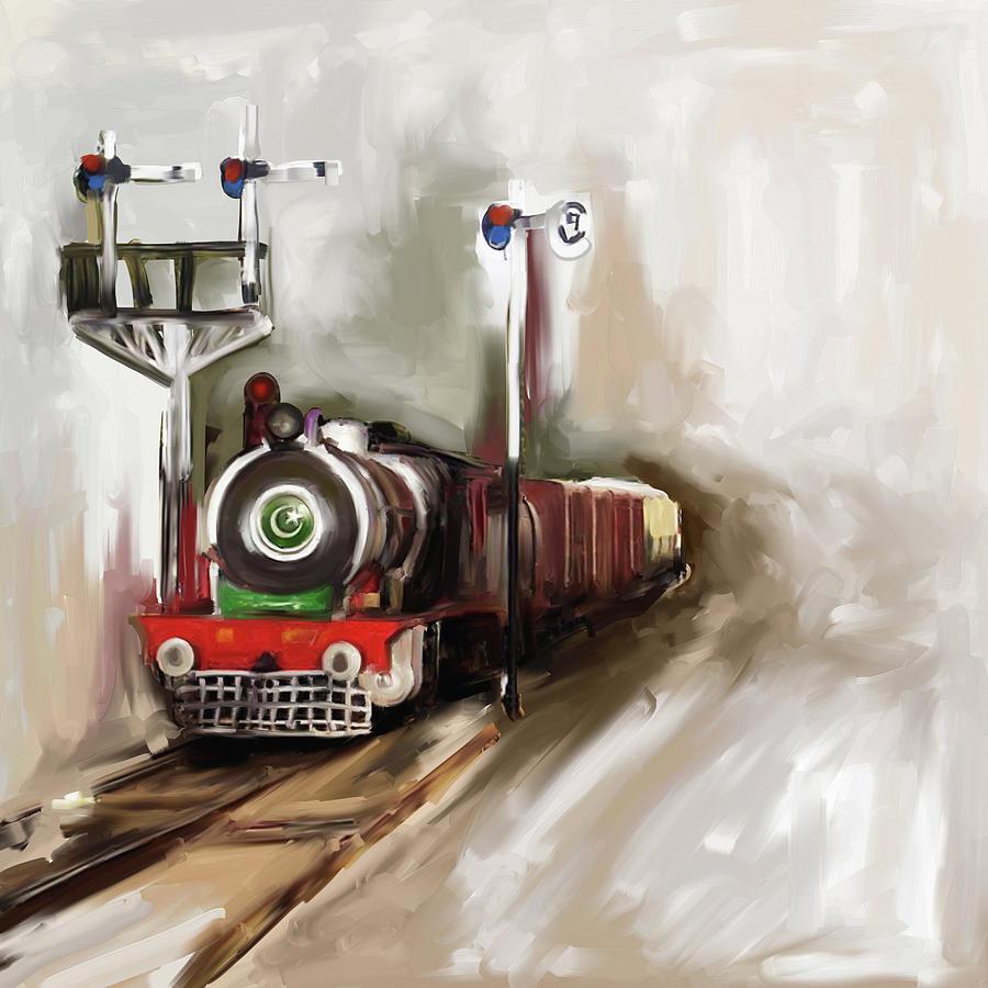 Painting 801 1 Steam Engine by Mawra Tahreem