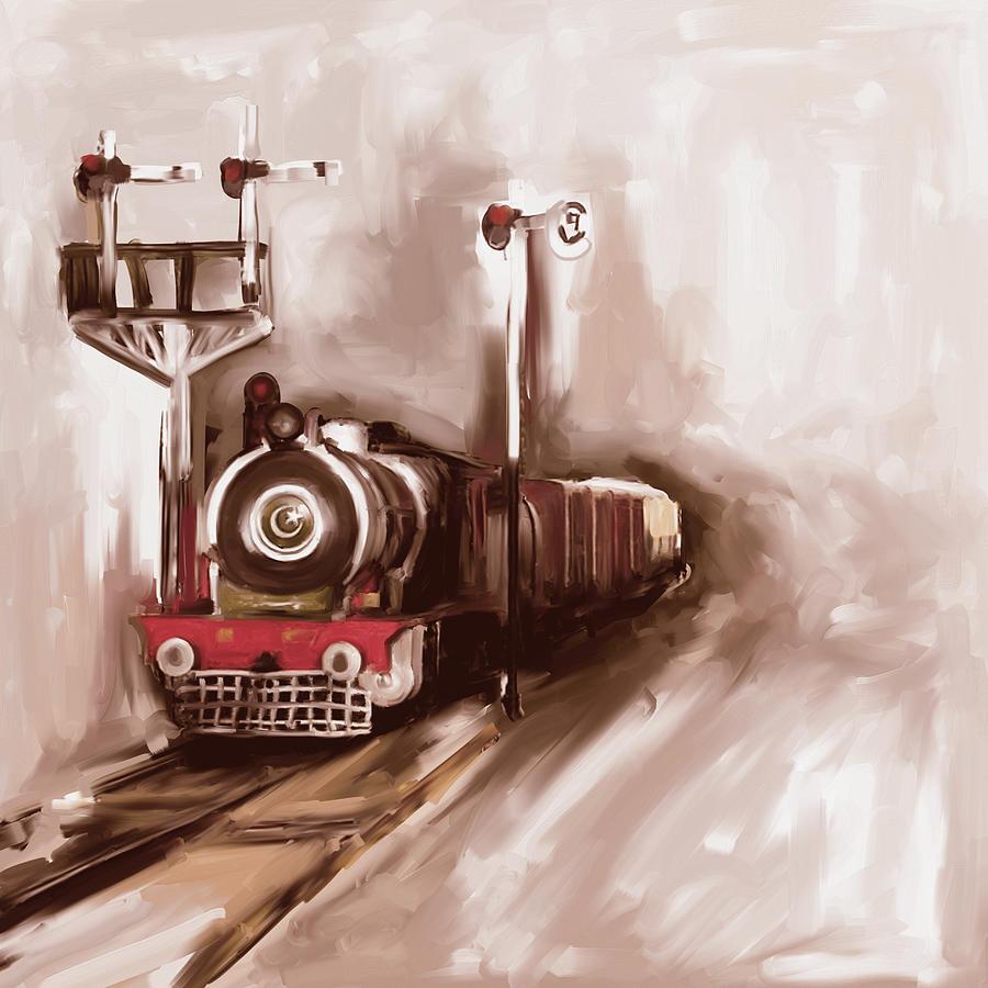 Painting 801 3 Steam Engine by Mawra Tahreem