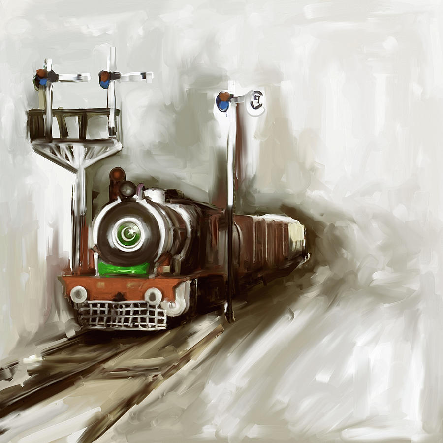 Painting 801 4 Steam Engine by Mawra Tahreem