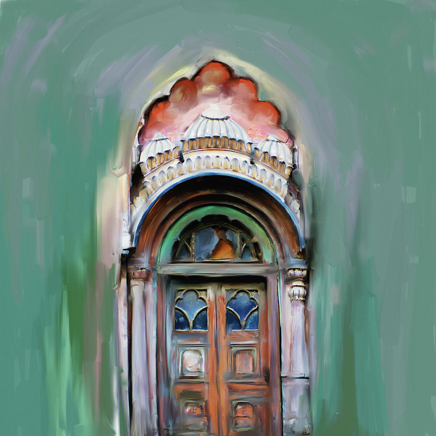 Painting 802 1 Sethi Street Door by Mawra Tahreem