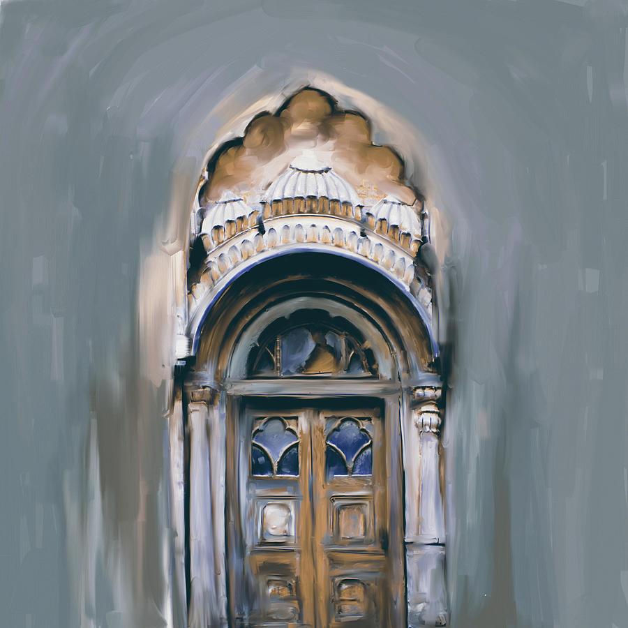 Painting 802 2 Sethi Street Door by Mawra Tahreem