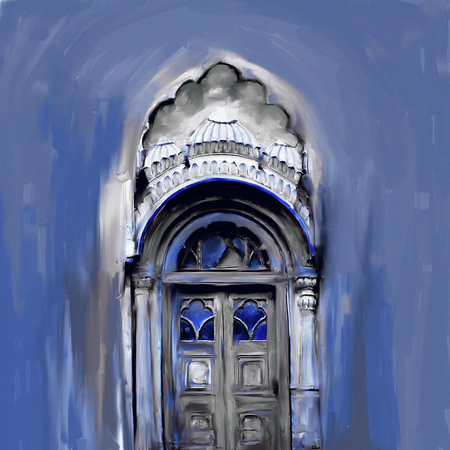 Painting  802 3 Sethi Street door by Mawra Tahreem