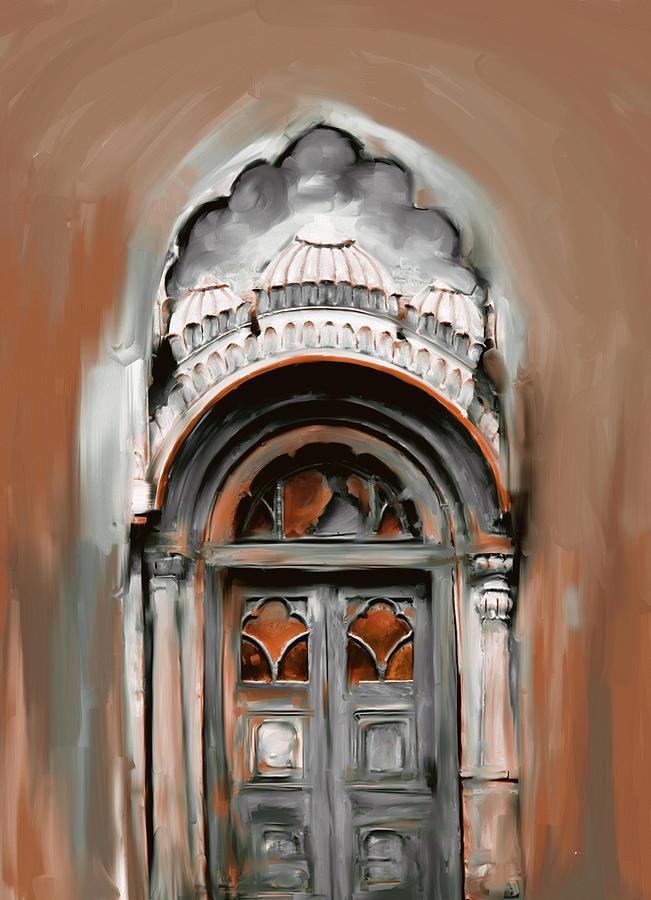 Painting 802 4 Sethi Street door by Mawra Tahreem