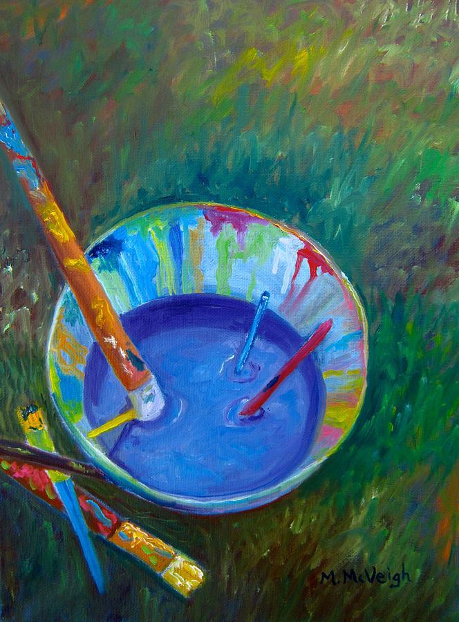 Artist Painting - Painting Bucket by Marita McVeigh