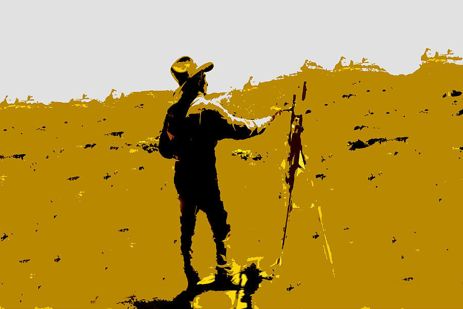 Painting Painting - Painting Cowboy by David Lee Thompson