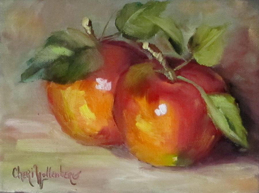 Painting Of Delicious Apples Painting By Cheri Wollenberg