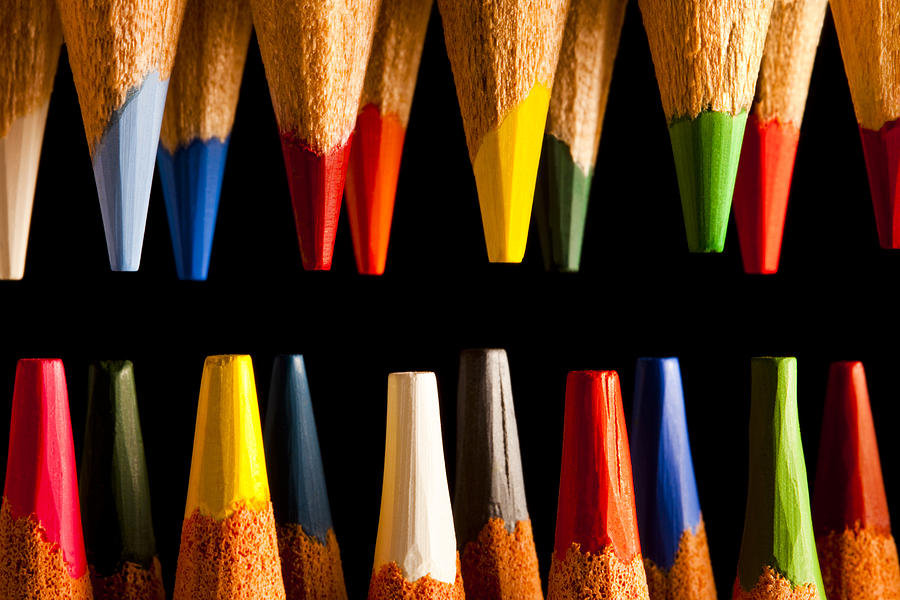 Background Photograph - Painting Pencils by Marc Garrido