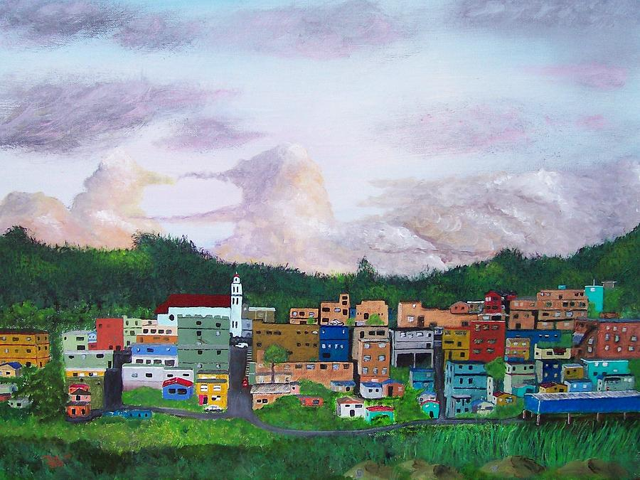 Barranquitas Painting - Painting The Town by Tony Rodriguez