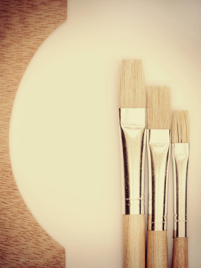 Painting Photograph - Painting Tools by Wim Lanclus