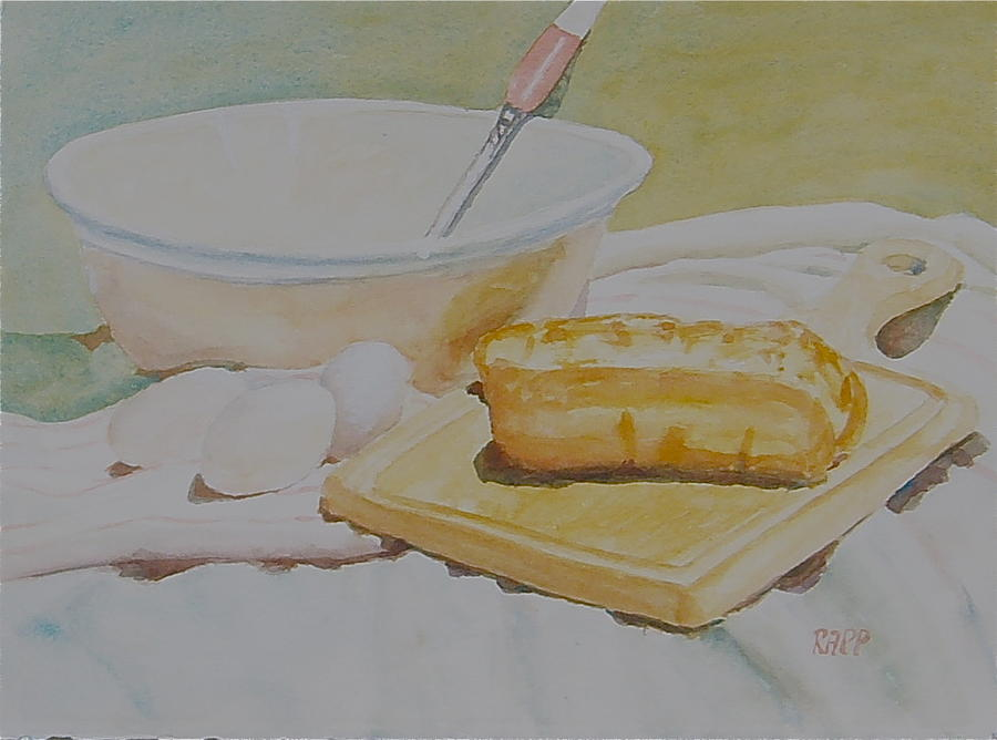 Bread Painting - Painting White by Jan Rapp
