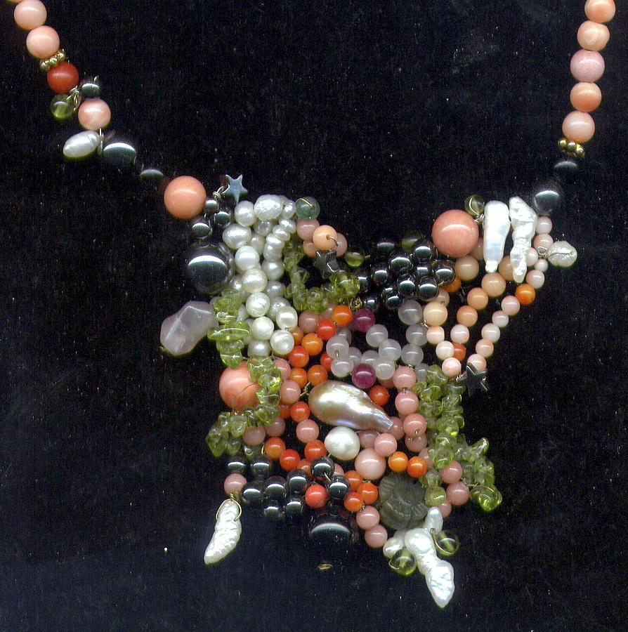 Necklace Jewelry - Painting With Stones by Salwa Kadous